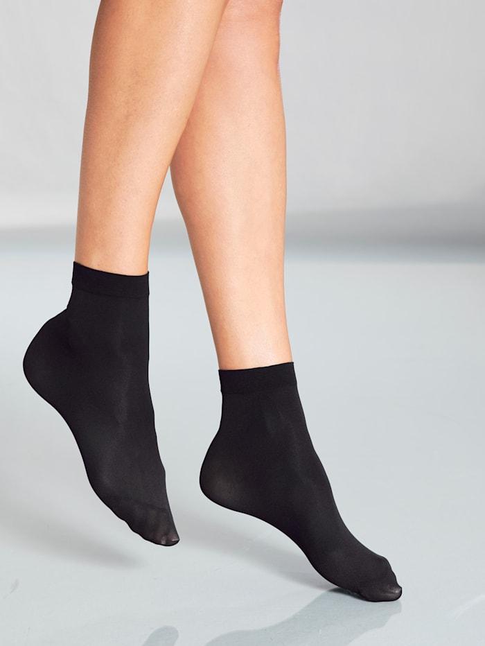 Biberna Sokken Smalle boordjes, Zwart