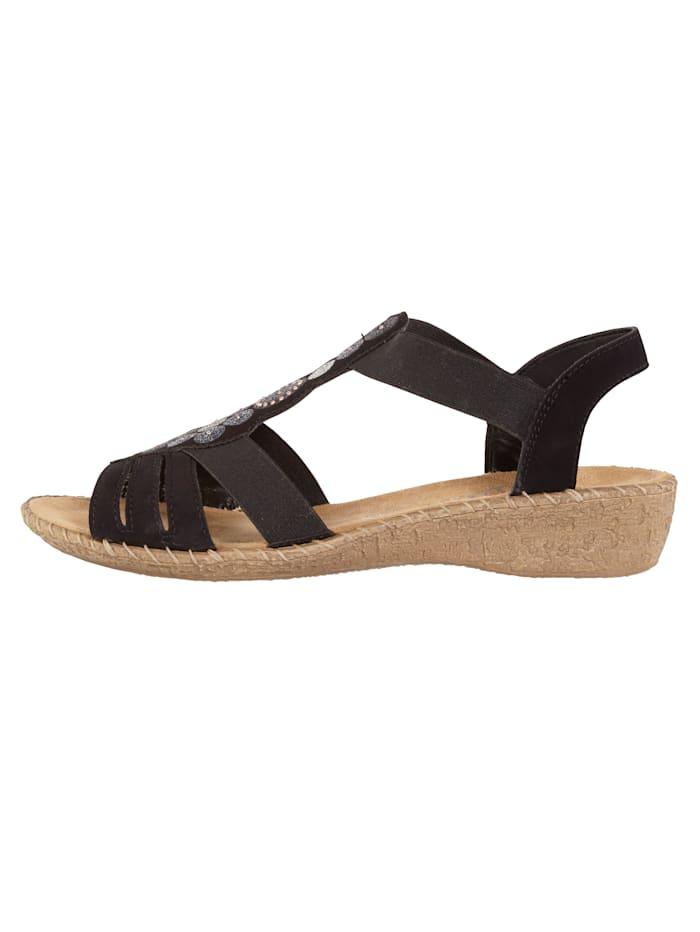 Sandaletter med dekorativ applikation
