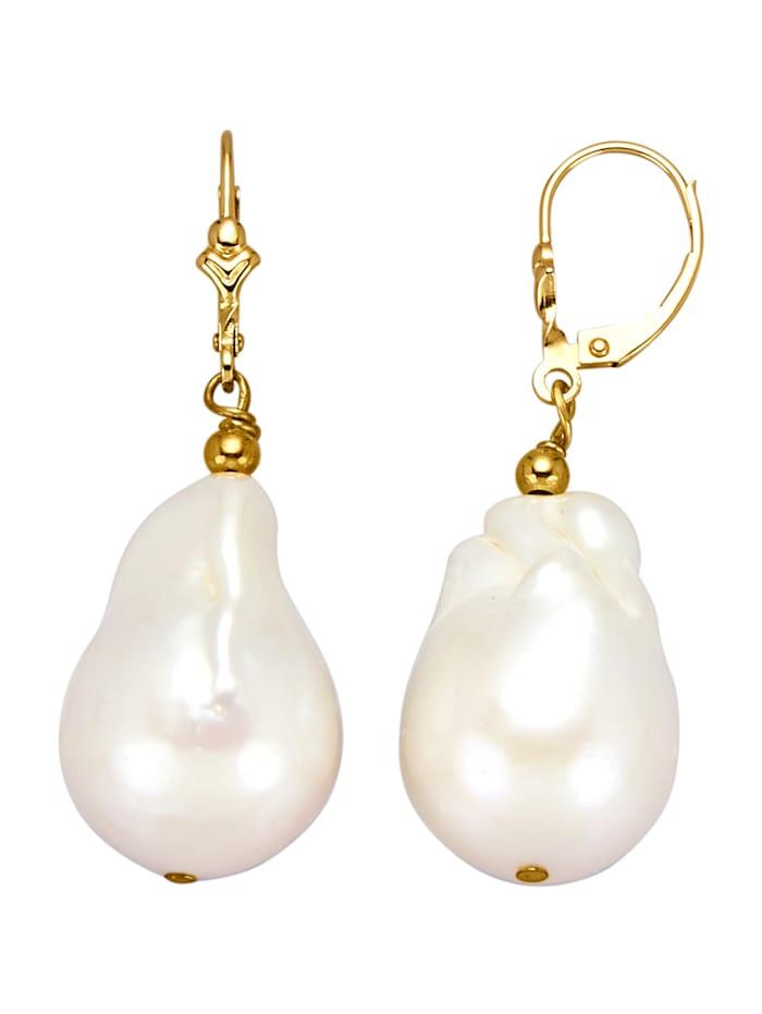 Ohrringe mit Keshi-Perlen, Weiß