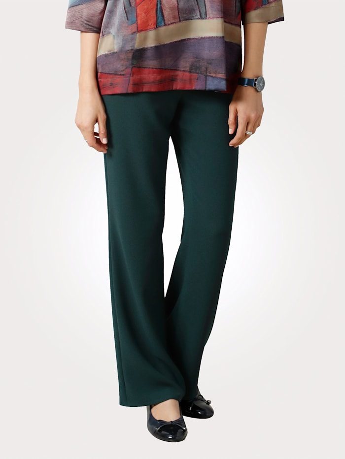 MONA Trousers with a wide leg, Green