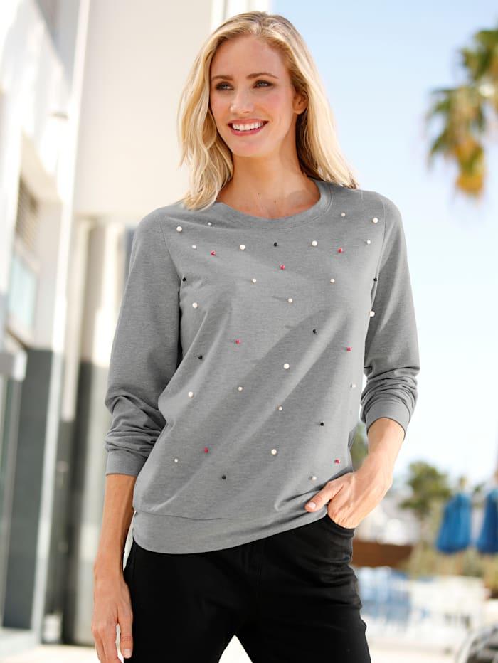 Sweatshirt mit Perlen
