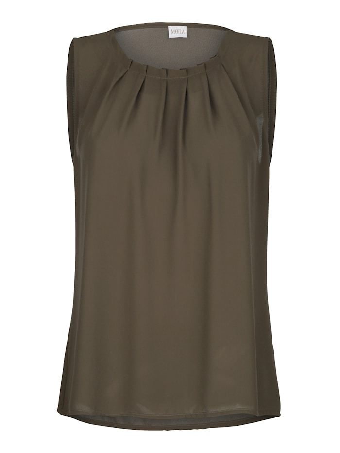 Top with decorative pleats