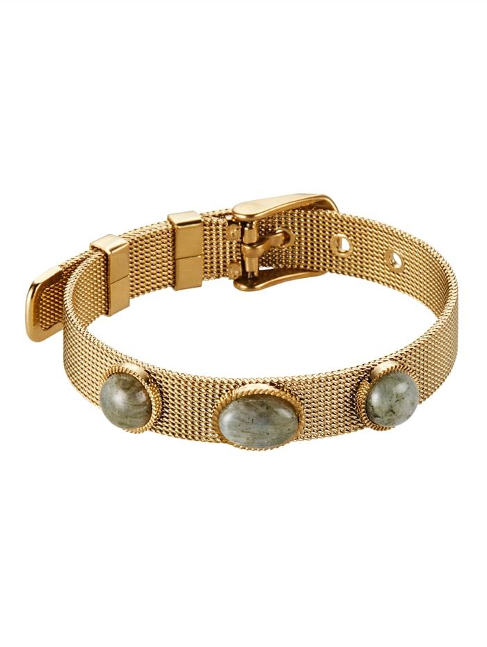Zag Bijoux Armband, Gelbgoldfarben