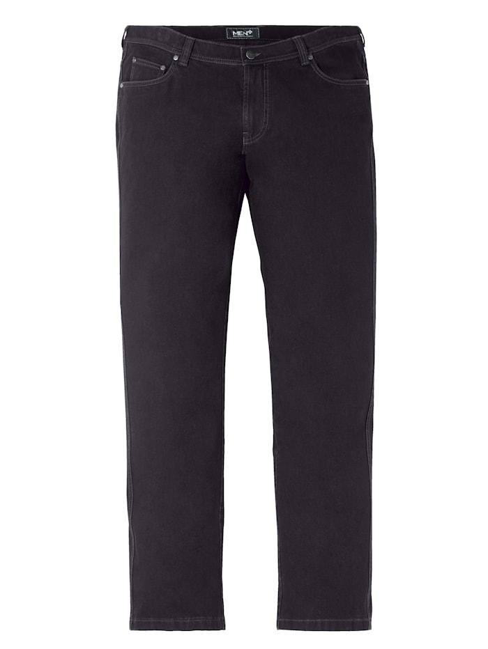 Men Plus Bi-Stretch Jeans 360 Grad Denim, Black