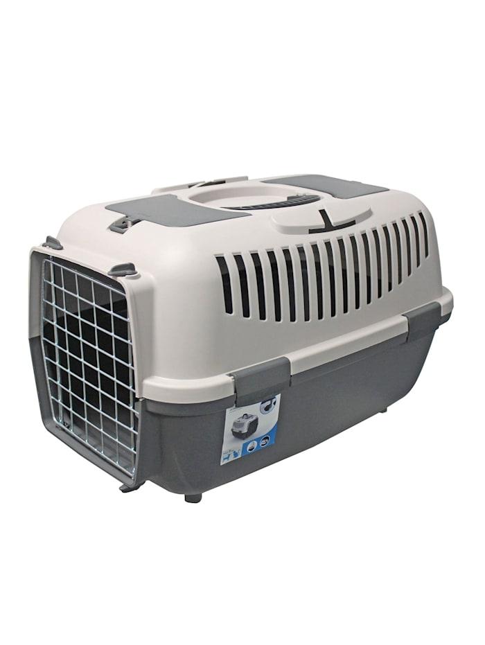 HTI-Living Transportbox für Tiere Katze und Hund, Grau