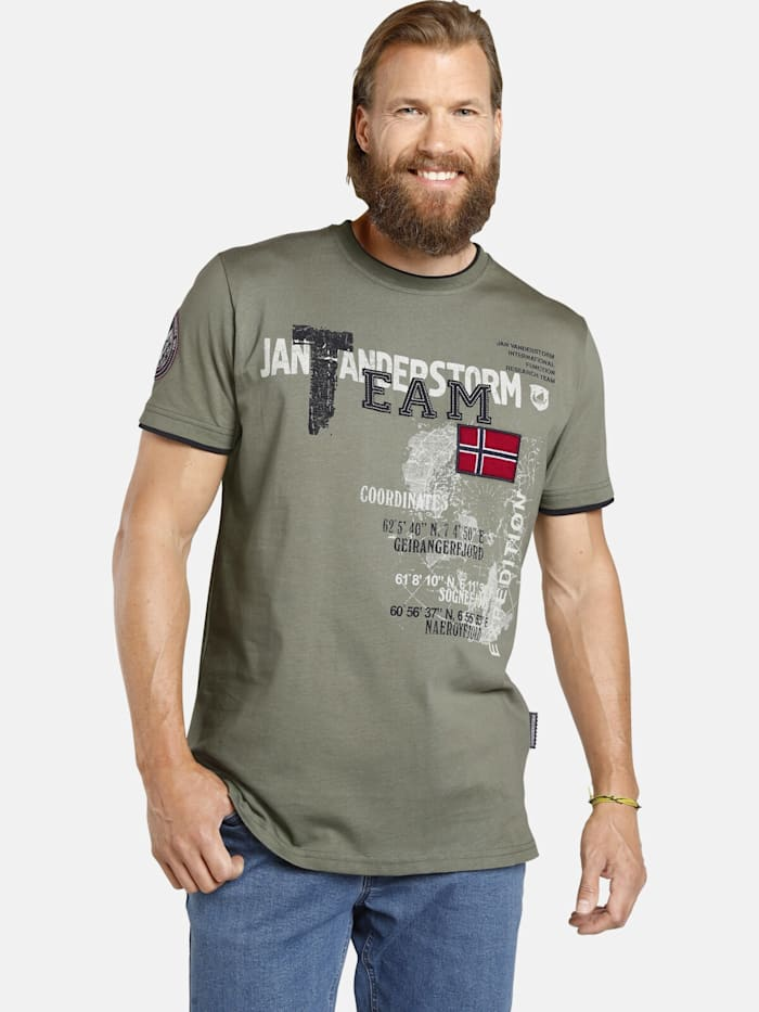 Jan Vanderstorm Jan Vanderstorm T-Shirt SÖLVE, oliv