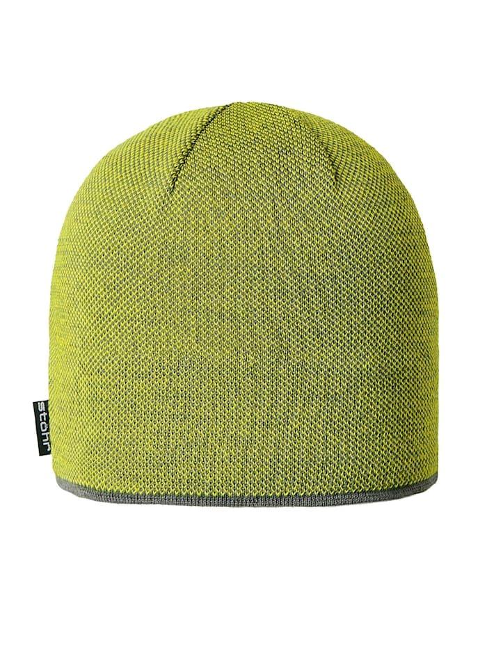 Stöhr PIUS - Zweifarbige Mütze mit wärmendem Thermolite®, Grau.Lemon