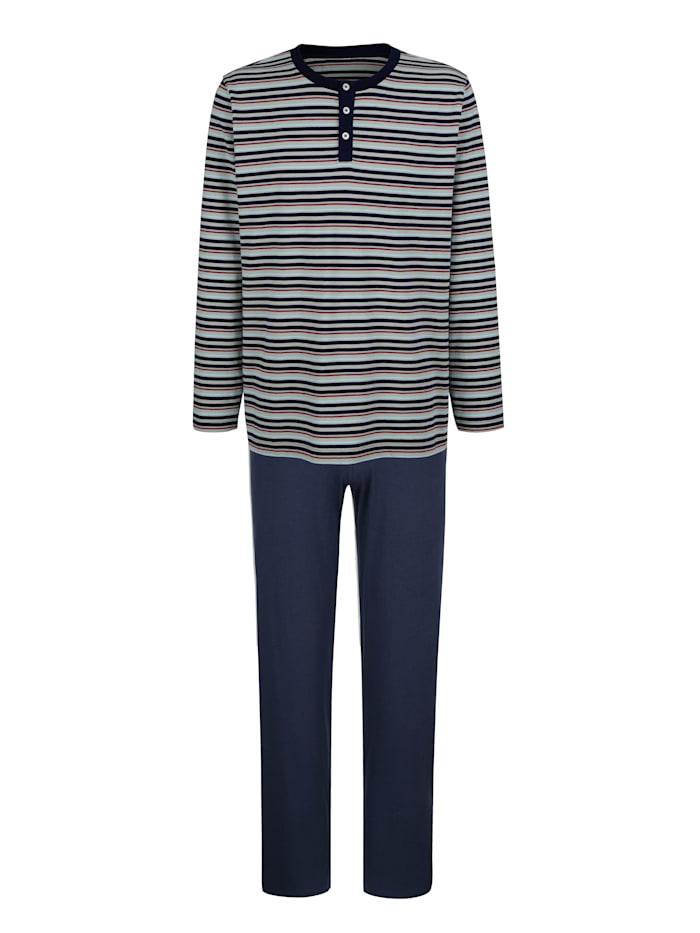 G Gregory Pyjama, Marine/Lichtgrijs