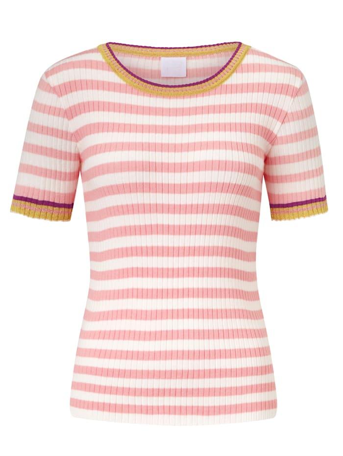 REKEN MAAR Strickshirt, Rosé