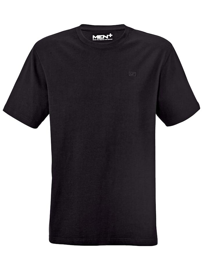 Men Plus T-shirt, Svart
