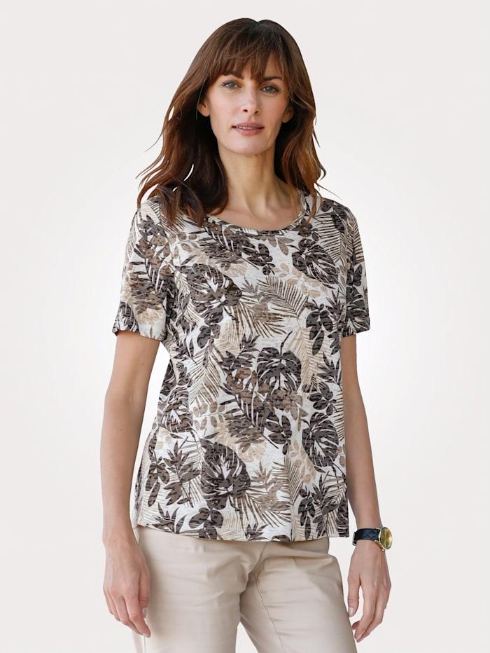 MONA Shirt mit 2-in-1 Optik, Sand/Beige