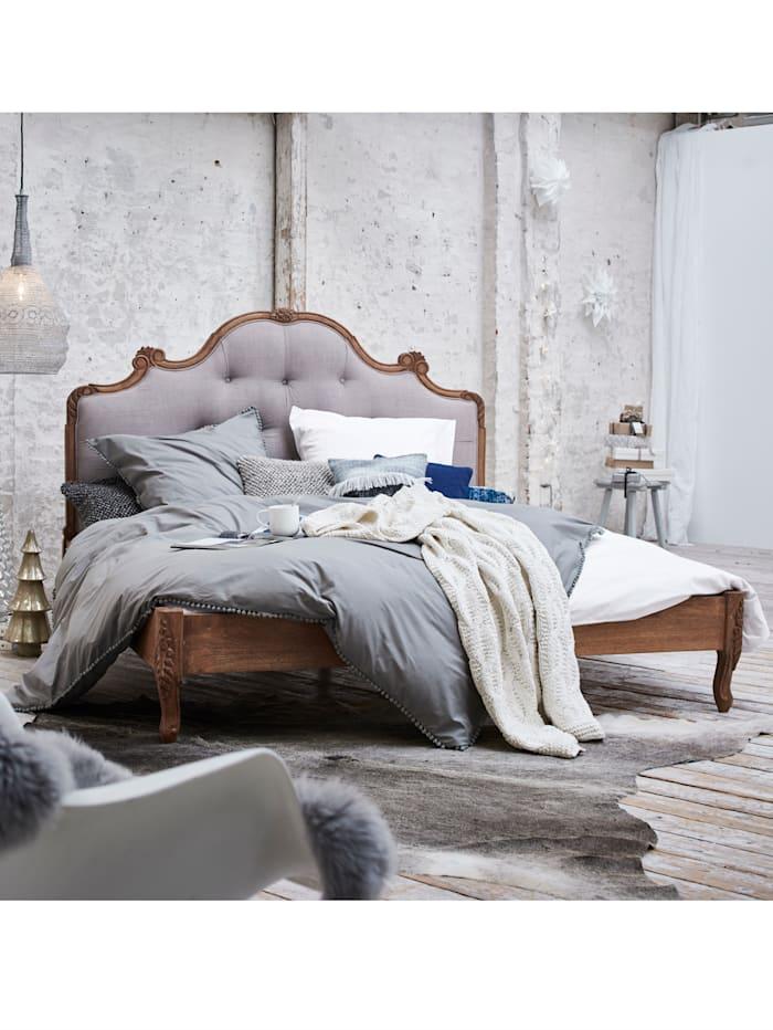 IMPRESSIONEN living Bett, Grau/Blau