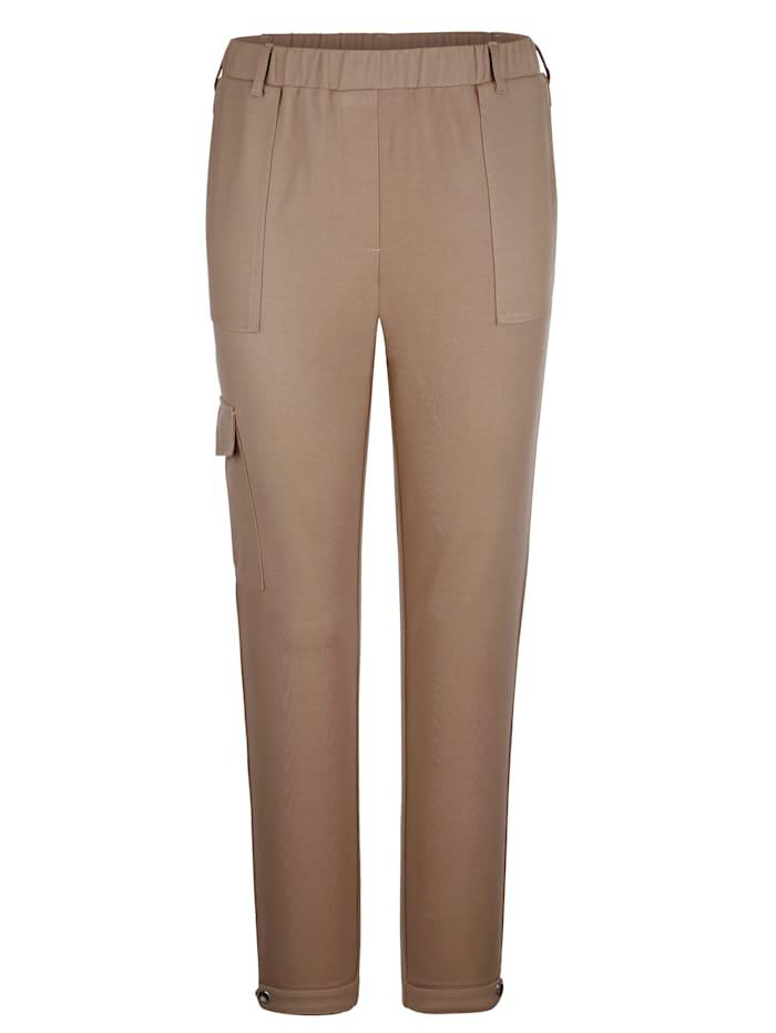 MIAMODA Pantalon à poche plaquée sur une jambe, Beige