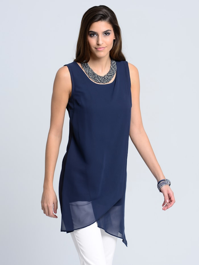 Alba Moda Top im modischen Layer-Look, Marineblau