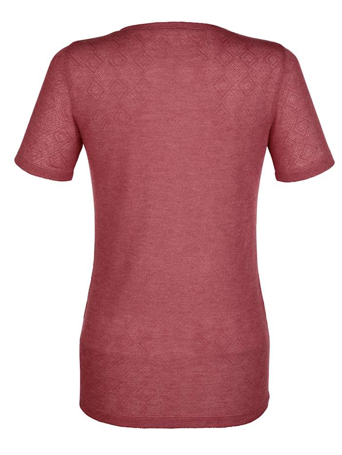 Shirt in strukturierter Qualität