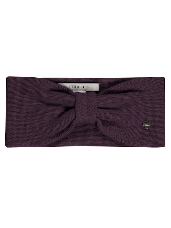 Codello Premium Stirnband aus reinem Kaschmir, dark violet