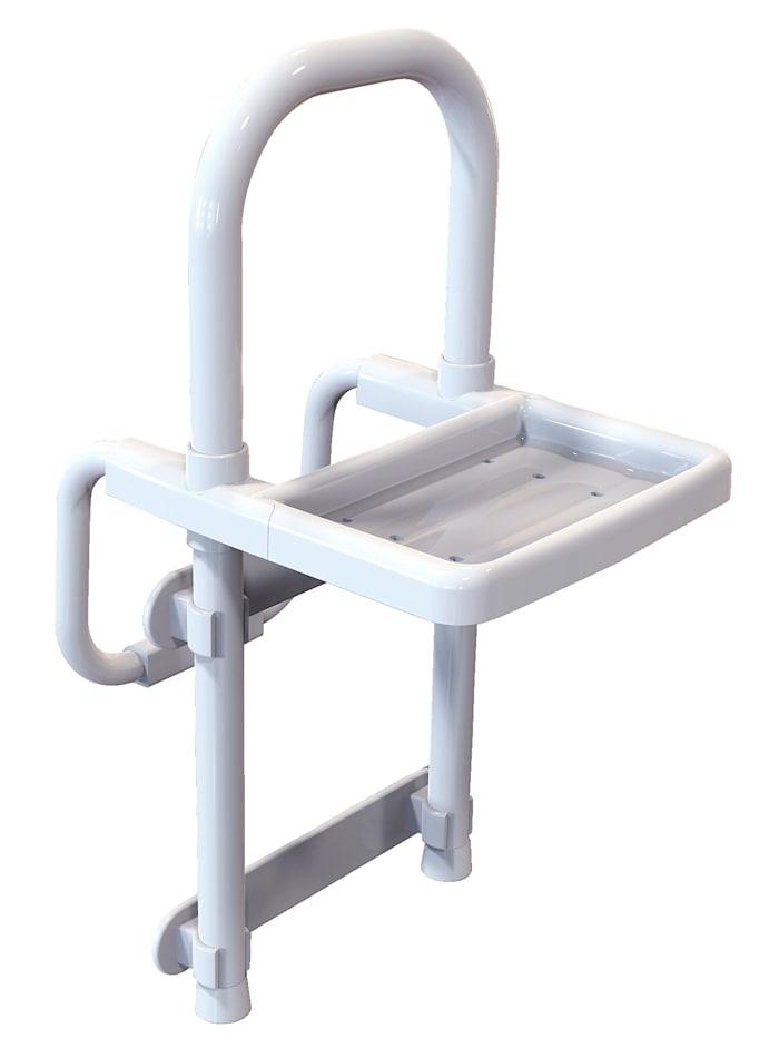 B&B Bischof Barre d'appui pour baignoire avec tablette, blanc