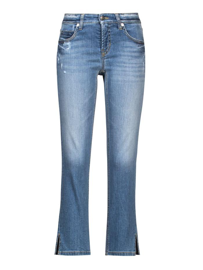CAMBIO Jeans mit Seitenschlitz, Blue stone