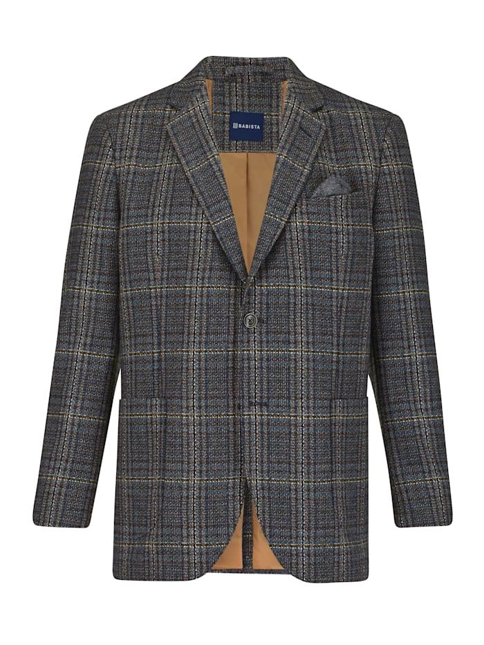 BABISTA Veste de costume en laine mélangée, Bleu/Gris