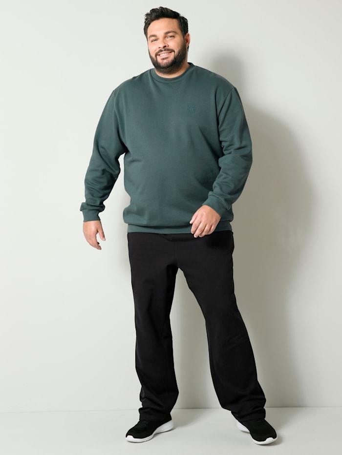 Men Plus Sweathose aus reiner Baumwolle, Schwarz