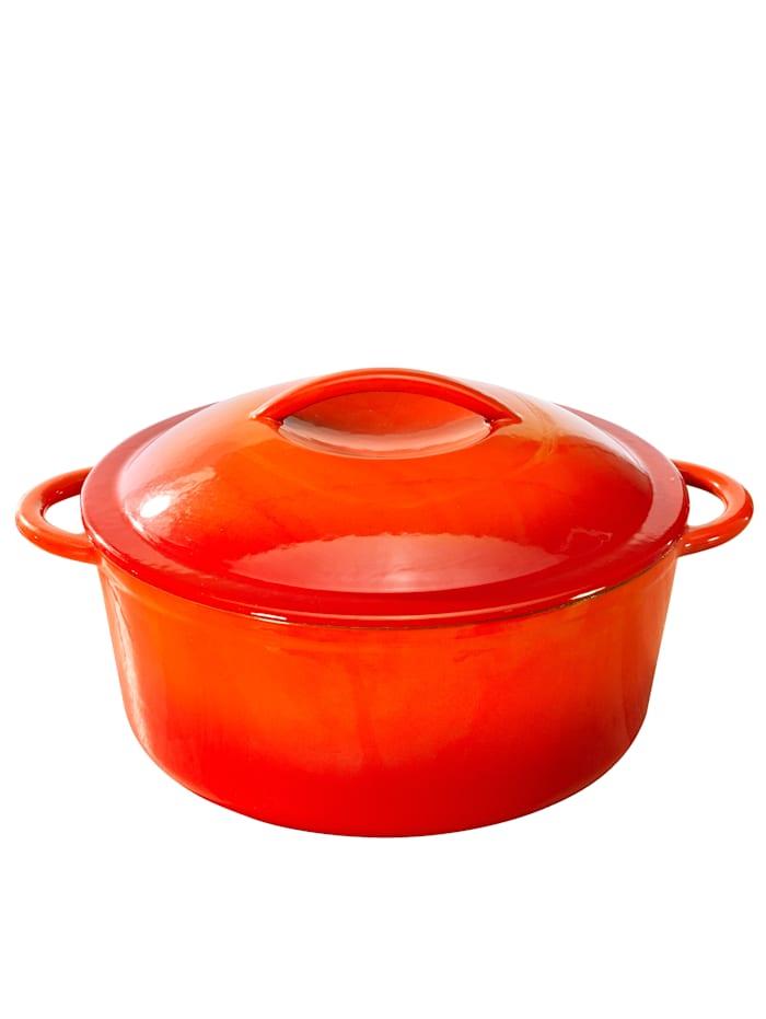 GSW Gusseisen Kochtopf 24 cm, Orange