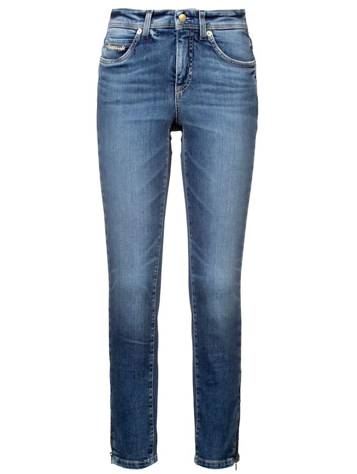 CAMBIO Jeans in schmaler Passform, Blue stone