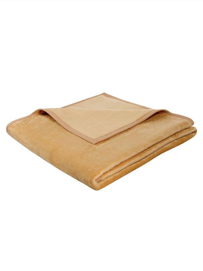biederlack Plaid Uno Soft, camel