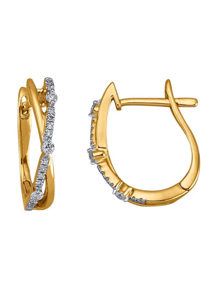 AMY VERMONT Örhängen med diamanter, Guldfärgad