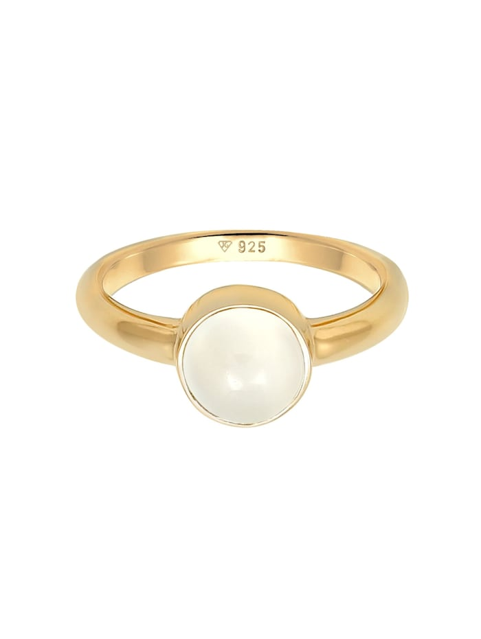 Ring Trend Bandring Mondstein Edelstein 925 Silber