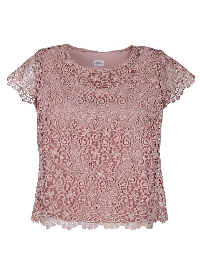 Set van een kanten blouse met topje