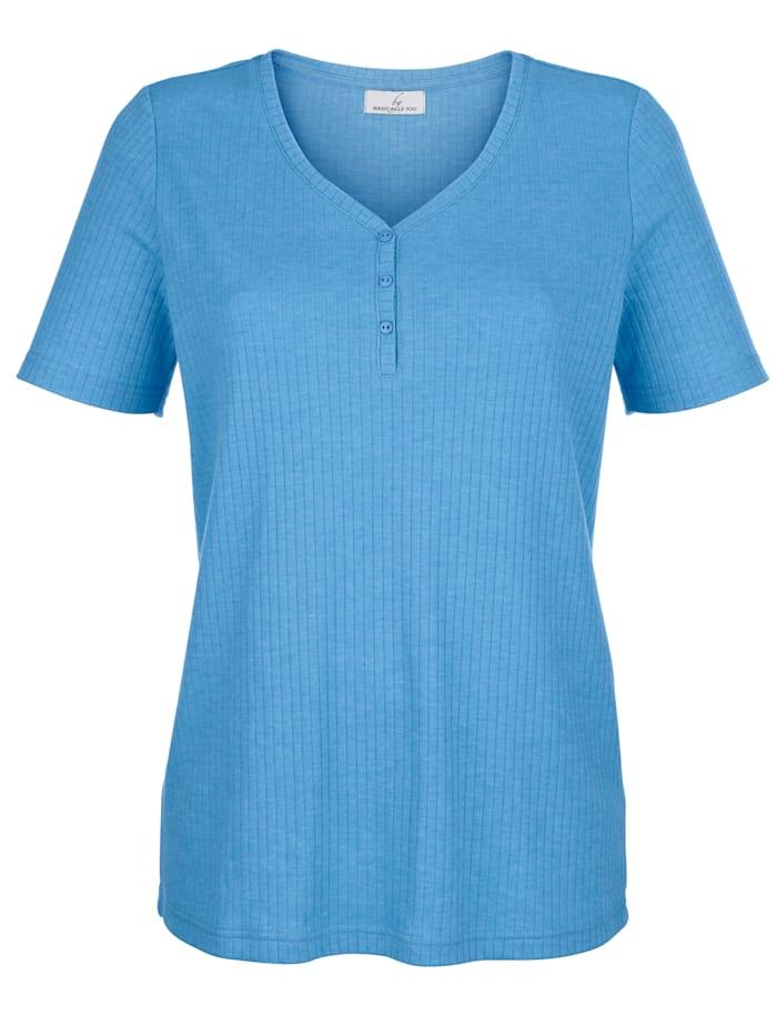 Shirt in Rippenoptik