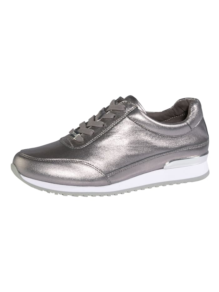 MONA Lace-up shoes in a unique design, Silver-Coloured