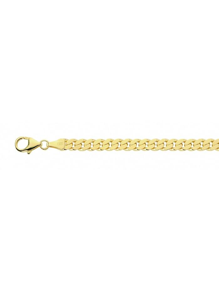 1001 Diamonds Damen Silberschmuck vergoldet Flach Panzer Armband 21 cm Ø 5,4 mm, gold