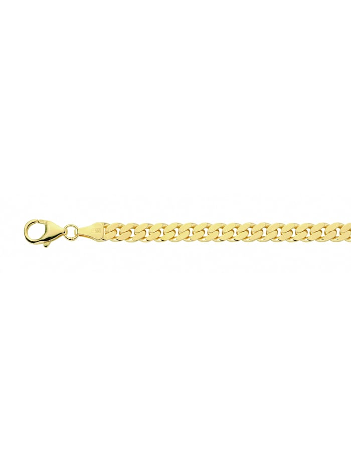 1001 Diamonds Damen Silberschmuck vergoldet Flach Panzer Halskette 60 cm Ø 5,4 mm, gold