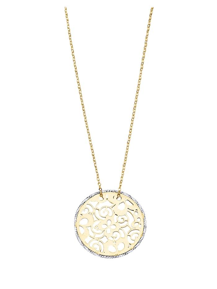 Halssmykke i gull 375, Gullfarget