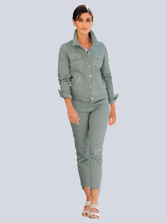 Jeans mit Fransensaum