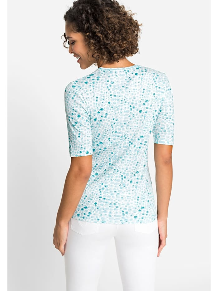 V-Shirt mit Kieselstein-Print