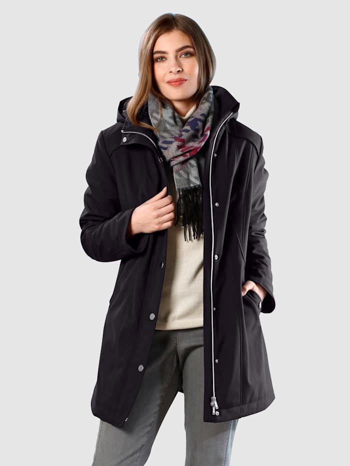 m. collection Manteau en softshell, Noir
