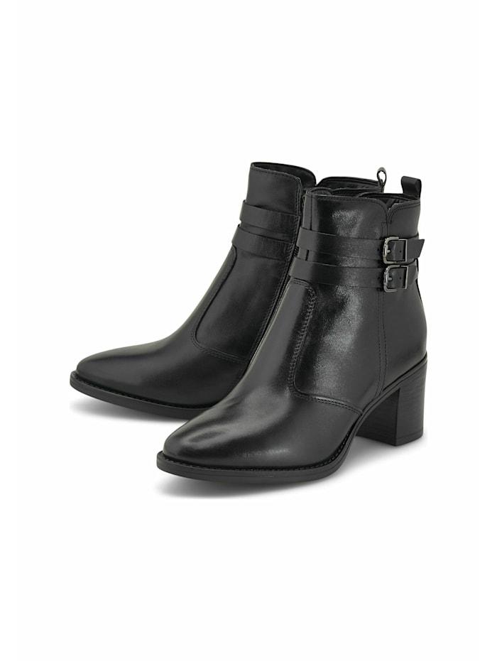 COX Klassische Stiefelette Riemchen-Stiefelette, schwarz