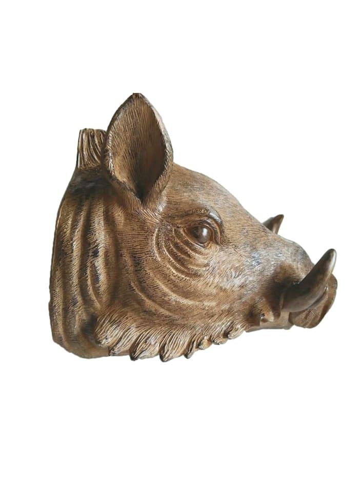 Harms Wildschweinkopf Dekorativ, Braun