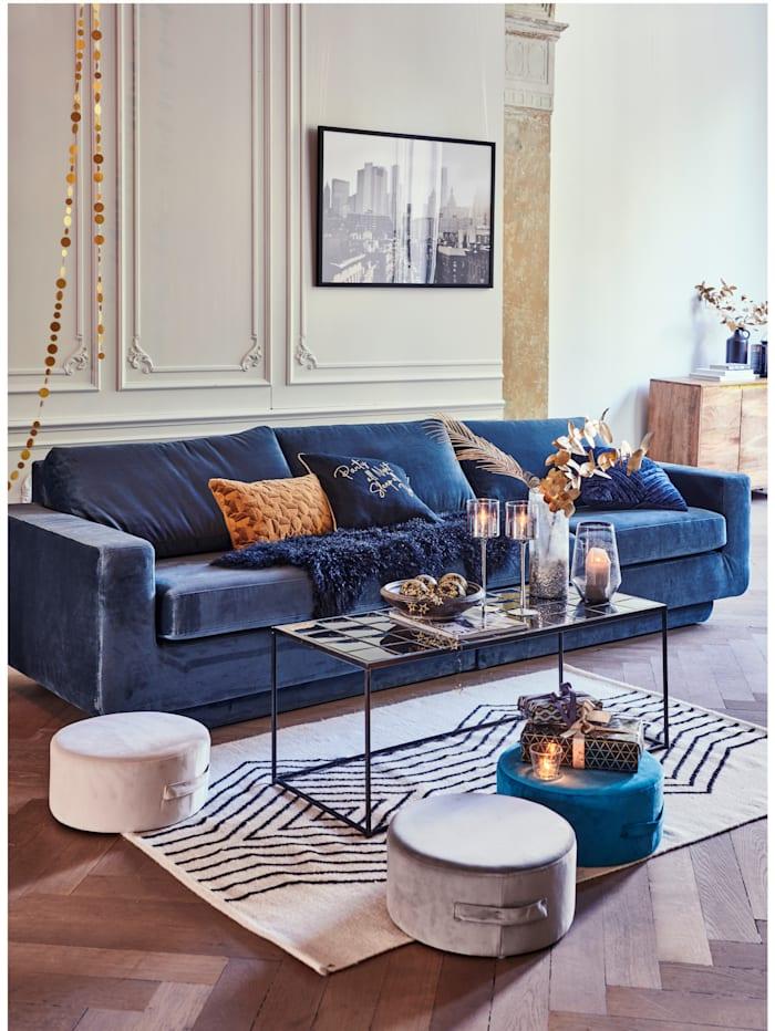 BePureHome Sofa mit Samtbezug, blau