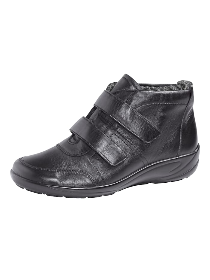 Semler Velcro Boots with warm lining, Black
