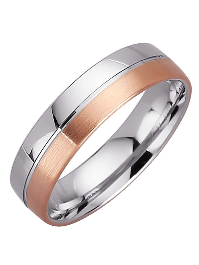 Harmony Alliance en or blanc et rose, Coloris argent