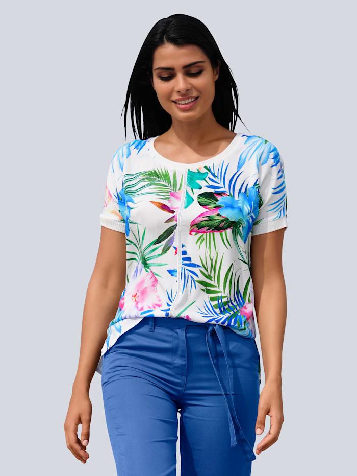 Alba Moda Blouse de plage de coupe T-shirt, Blanc