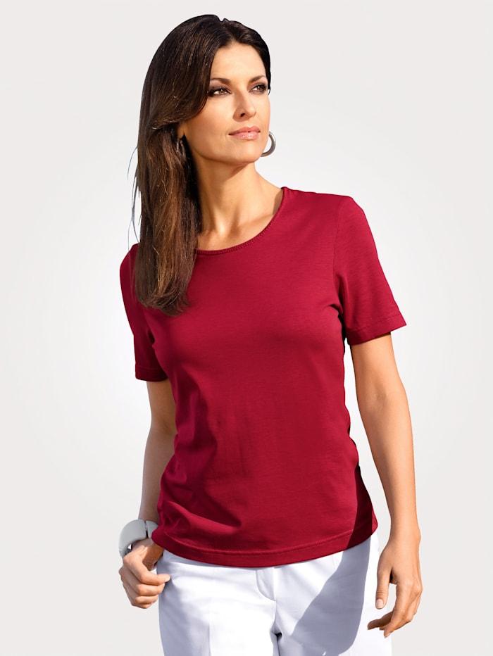 MONA T-shirt en coton pima, Rouge