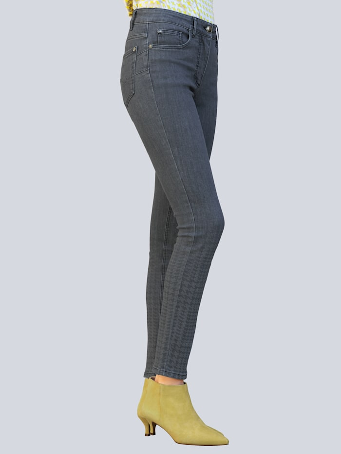 Alba Moda Jeans in klassischer 5-Pocket Form, Grau