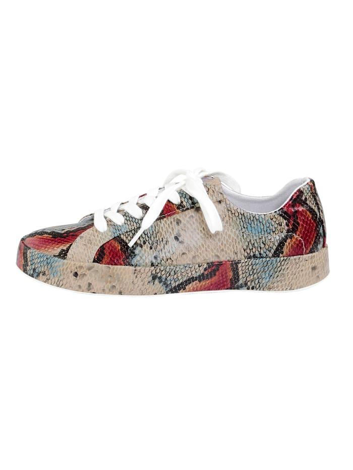 Sneakers d'aspect peau de serpent mode