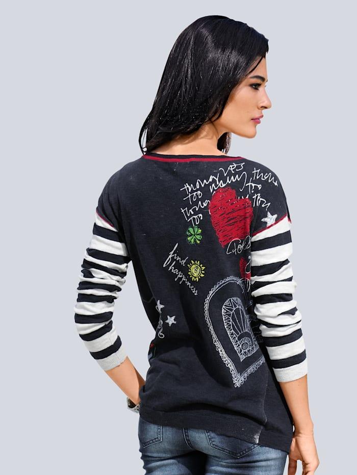 Pullover mit Druck im Rückenteil