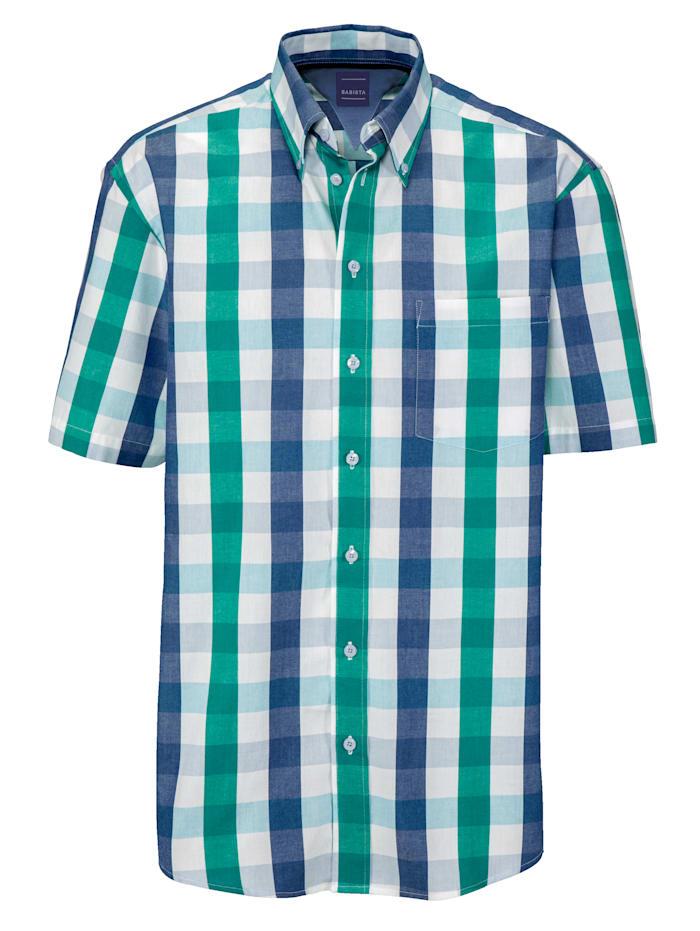 BABISTA Overhemd, Groen/Blauw/Wit