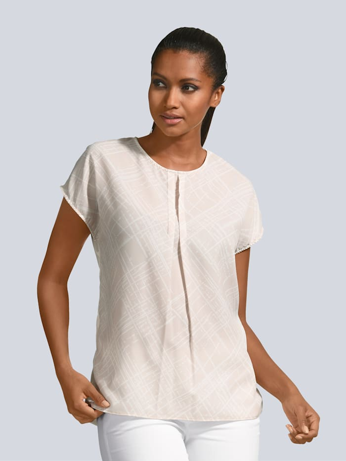 Alba Moda Shirt mit wunderschönem Druck, Beige